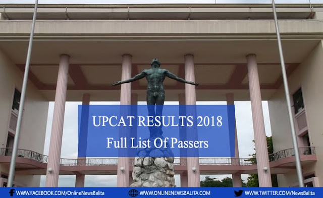 A-H List of Passers UPCAT 2018-2019