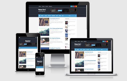 Vienna Lite 2 Blogger template Responsive dan Seo Friendly Free Download