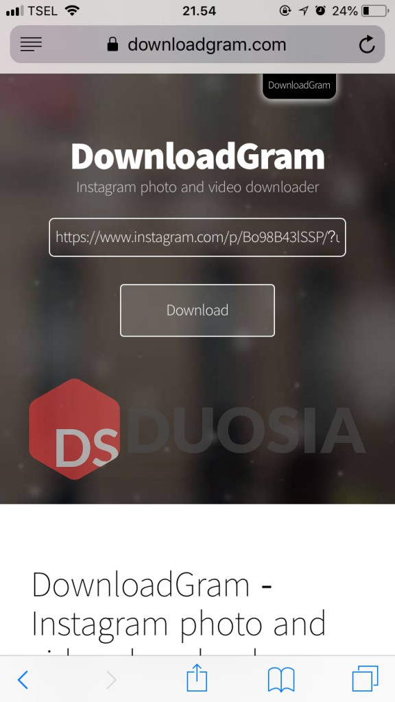 Download foto instagram di ios