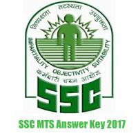 SSC MTS EXAM 30/04/2017 ANSWER KEY