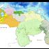 Lloviznas dispersas al sur de Bolívar, Territorio Esequibo, Delta Amacuro, Sucre, Nueva Esparta, Miranda, Distrito Capital, este de Falcón, sur de Amazonas