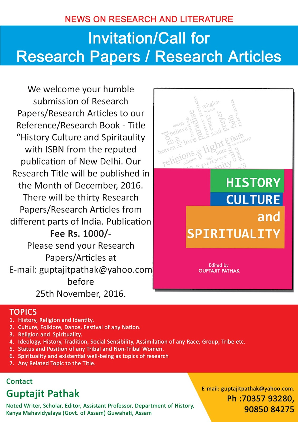 spirituality research papers Submit paper about scientific research on spirituality and health: an annotated bibliography of clinical research on spiritual subjects.