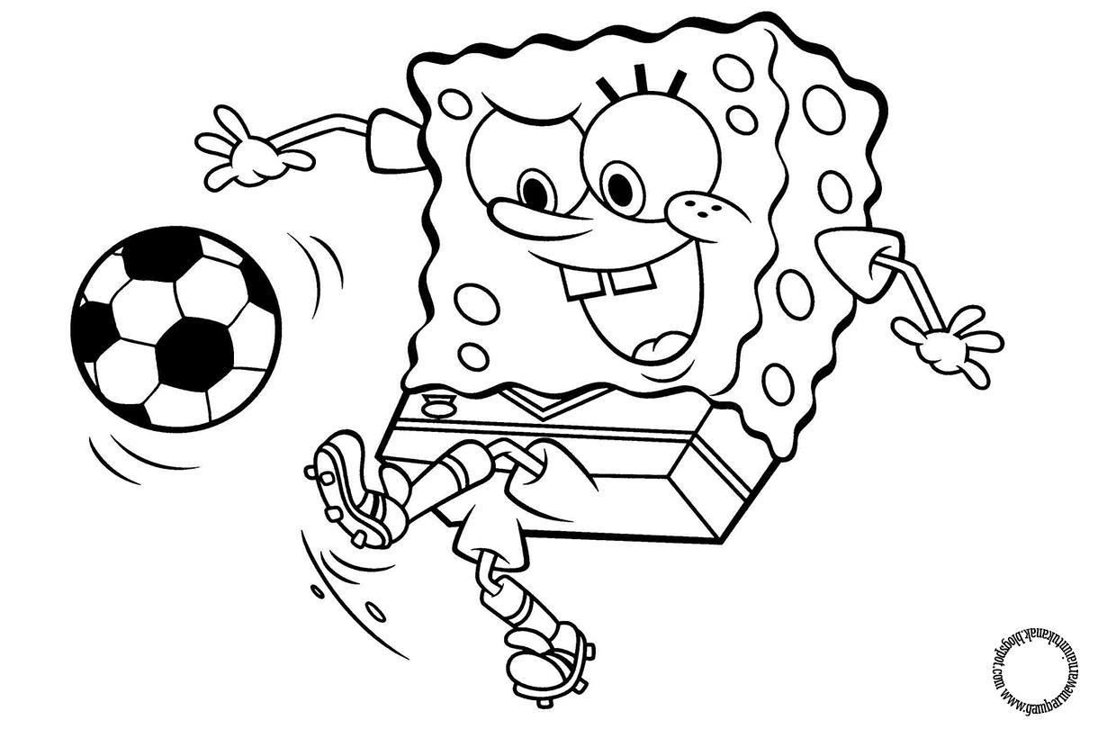Gambar Mewarnai Spongebob Untuk Anak Gambar Mewarnai Untuk Anak