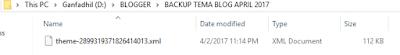 Hasil Backup Template di Blogspot