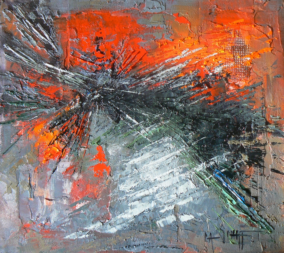 Carol Schiff Daily Painting Studio Daily Abstract Painting