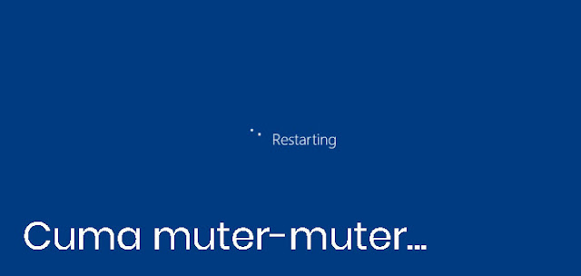 proses restart cuma muter-muter di Windows 10