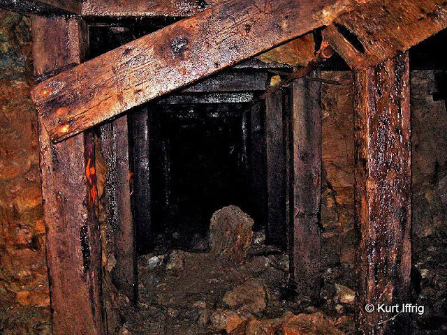 There are many cave-ins inside Big Horn Mine, but this tunnel is still holding up fairly well.
