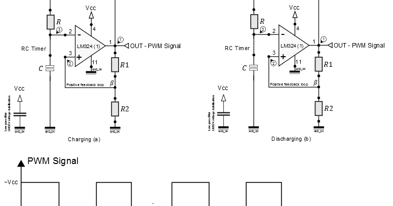 How to design LM324 Astable Multivibrator
