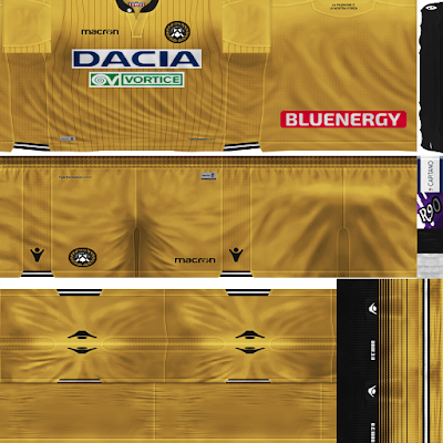 PES 6 Kits Udinese Calcio 1896 Season 2018/2019 by Rodry90 Kitmaker
