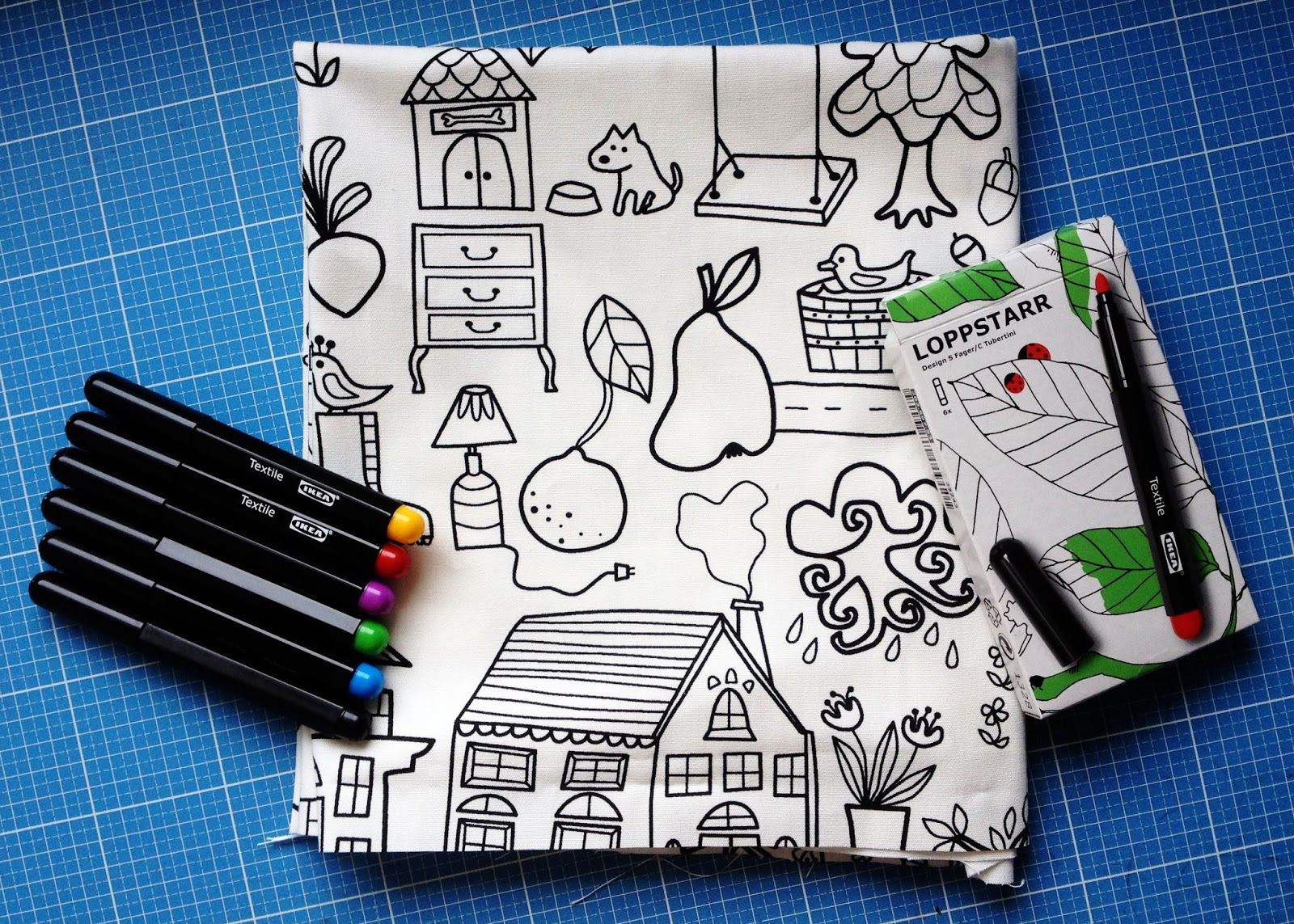 ikea kissen zum bemalen wohn design. Black Bedroom Furniture Sets. Home Design Ideas
