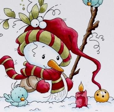 Peppermint Pattys Papercraft Merry Christmas Snowman