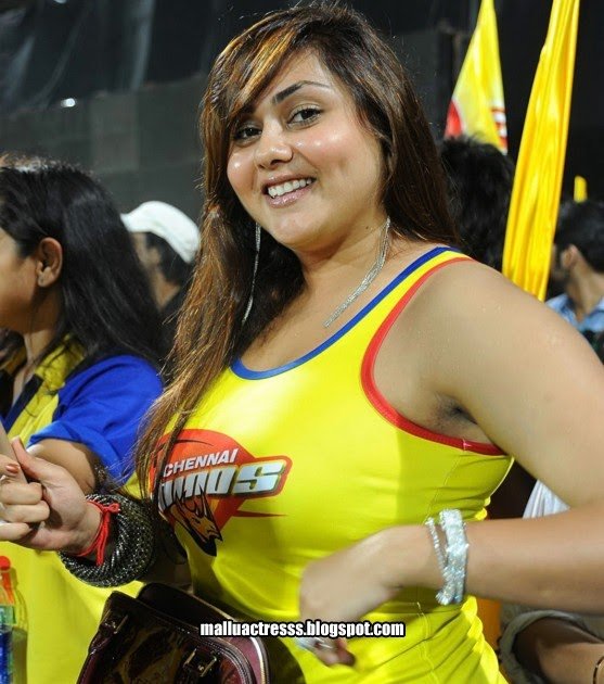 Warriors Of The Rainbow Tamil Movie: Malayalam Actress: Namitha At Telugu Warriors VS Chennai