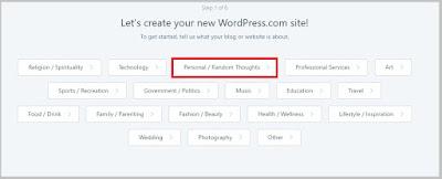 Cara membuat blog di wordpress bagi pemula