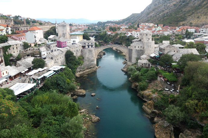 Mostar from above