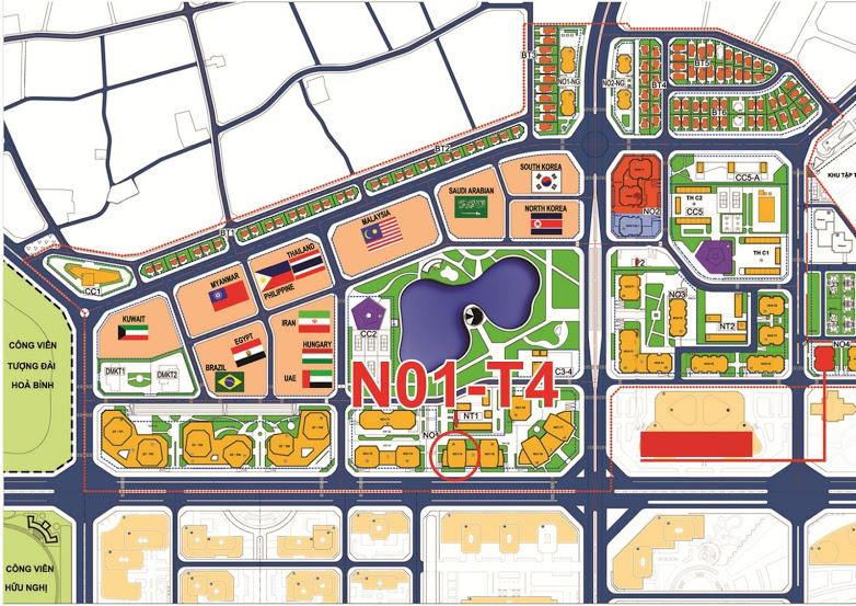 Vị trí chung cư Phú Mỹ Complex - N01T4 Ngoại Giao Đoàn