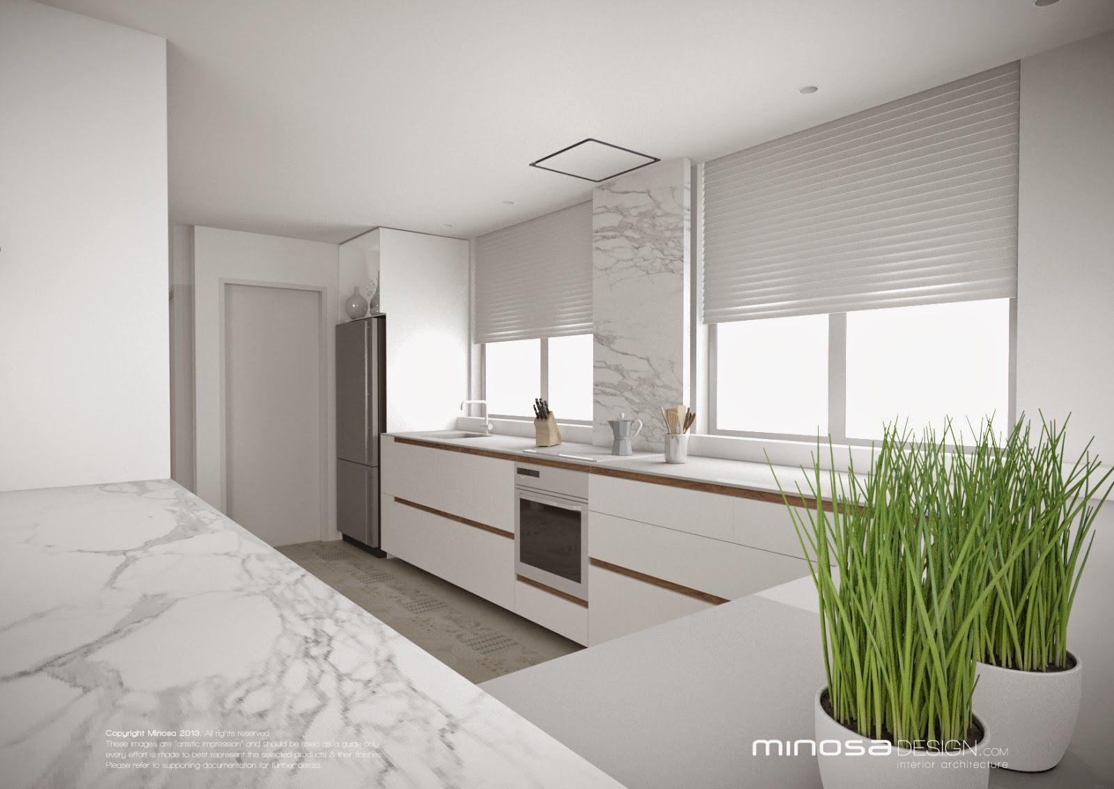 Minosa: White Kitchen design - fresh or boring?