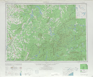 Jackman 1948 USA 250000 (250k) Topographic map free download