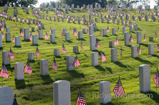 Marietta National Cemetery and flags
