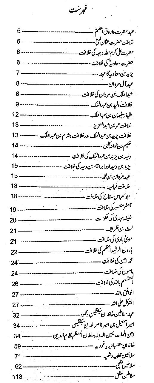 Islamic Khilafat History Book in Urdu