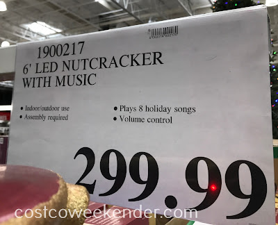 Deal for the 6ft Nutcracker with Music and LED Lights at Costco