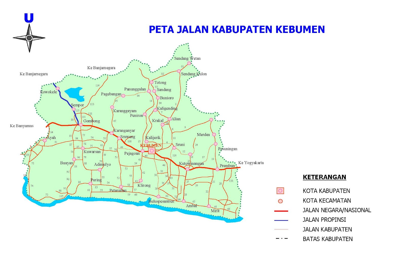 Peta Kota: Peta Kabupaten Kebumen