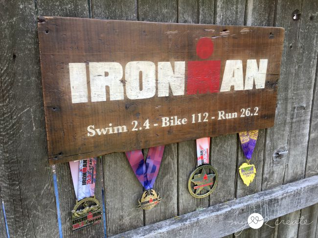 Rustic Ironman Medal Display, MyLove2Create