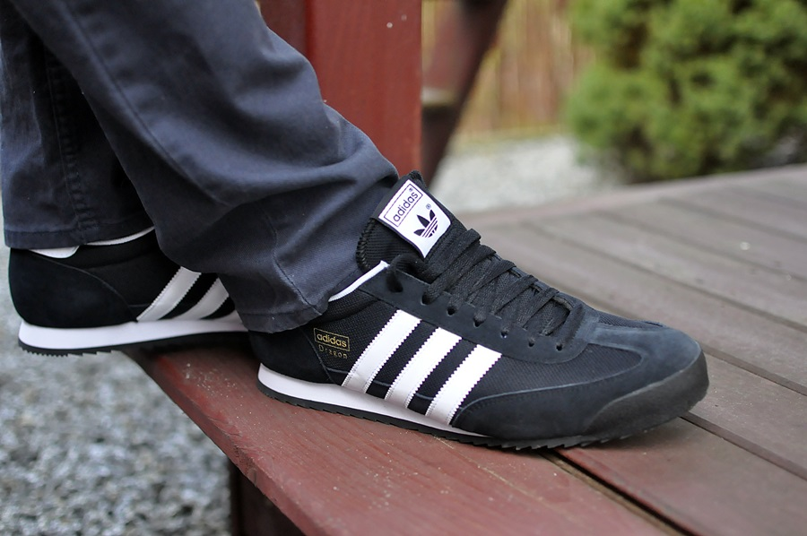 adidas dragon black and white