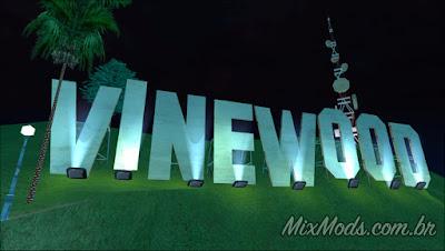 gta sa mod placa de vinewood iluminada com luz
