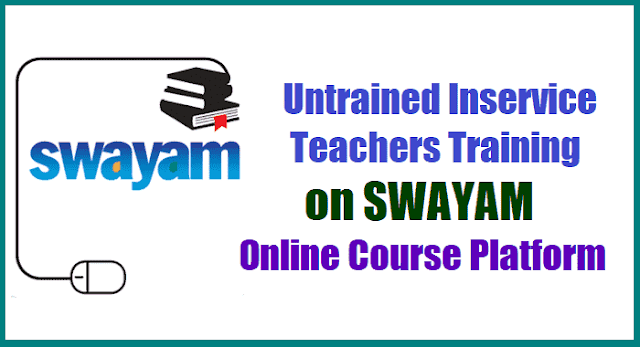 untrained inservice teachers training on swayam online course platform,nios untrained inservice teachers training course,nios d.ed course,NIOS D.El.Ed Programme