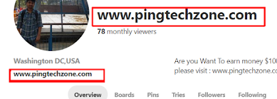 pinterest profile backlink