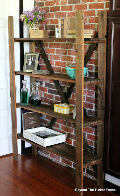 Rustic Ladder Shelf Made from FREE Wood