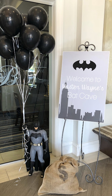 Modern Monochromatic Batman Party Ideas by The Celebration Stylist