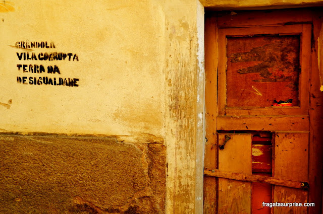 Crise europeia - grafite de protesto em Coimbra, Prortugal