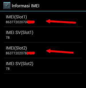 Informasi IMEI