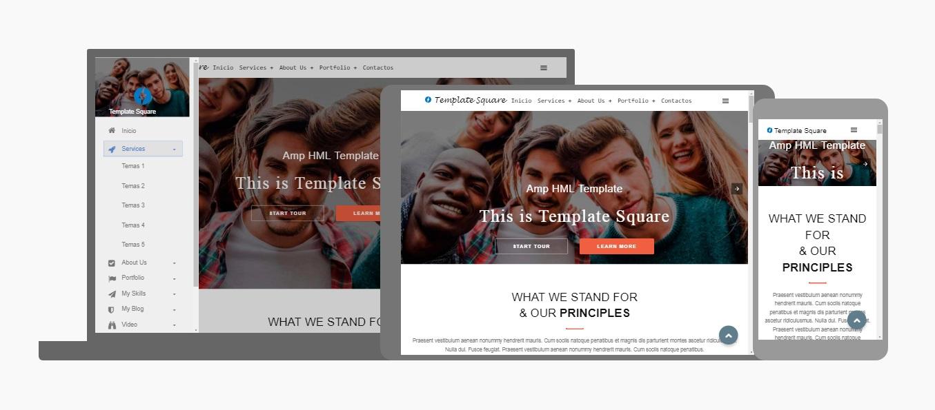 Amp Square - Premium Amp HTML Blogger template