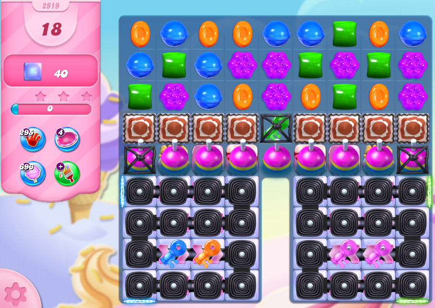 Candy Crush Saga level 2919