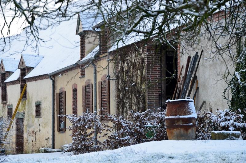 Village Neige Puisaye Yonne