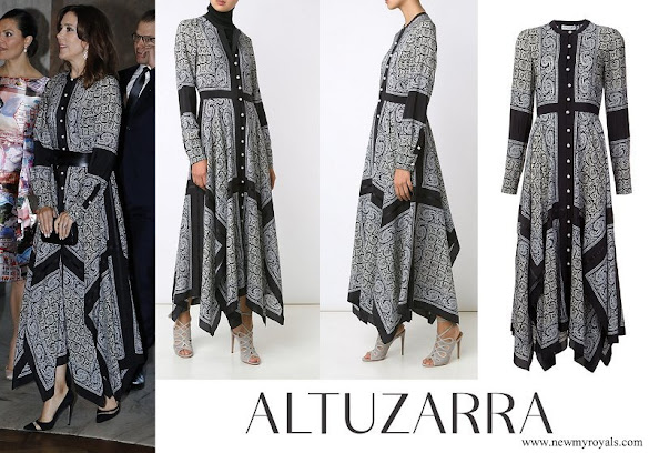 Crown Princess Mary wore ALTUZARRA paisley print shirt dress