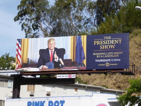 President Show series premiere billboard