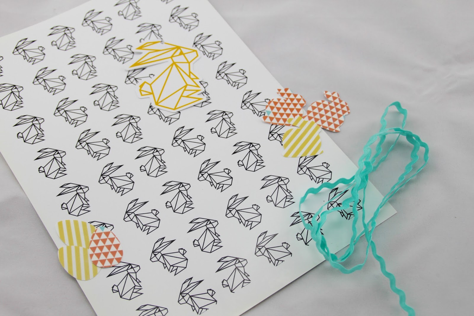 Silhouette uk origami rabbit easter gift wrap and tag so for easter i thought i could show you how you can make your own wrapping paper washi easter themed stickers and a gift tag negle