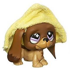 Littlest Pet Shop 3-pack Scenery Basset Hound (#665) Pet