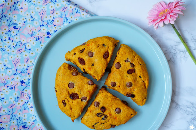 scones patate douce raisins secs chocolat vegan