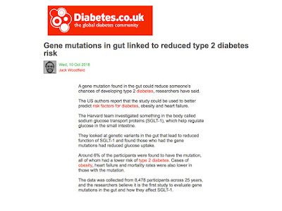 Gene mutations in gut linked to reduced type 2 diabetes risk and more...