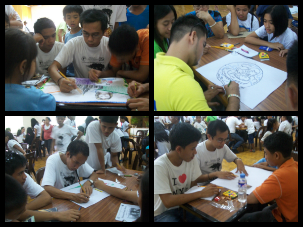 Poster making contest in action