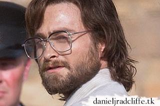 Daniel Radcliffe on the set of Escape from Pretoria