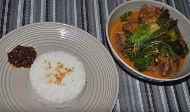 Kare Kare with Bagoong and White Rice