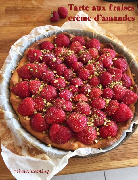 tarte aux fraises cr me d 39 amandes et pistaches blogs de cuisine. Black Bedroom Furniture Sets. Home Design Ideas
