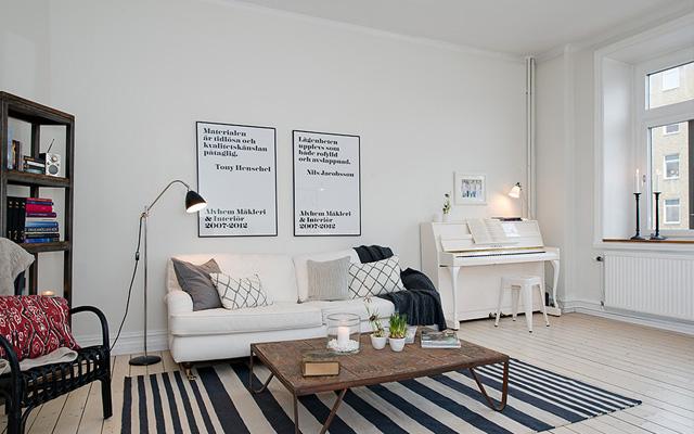 Marzua ideas para decorar con pianos de pared - Decorar paredes salon ...