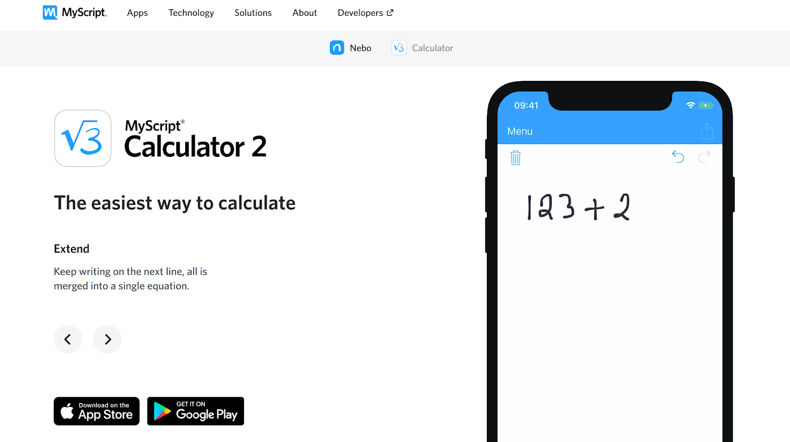 MyScript Calculator 2 知名手寫計算機新版首週限時免費下載