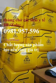 Thùng chở chất thải y tế lây nhiễm nguy hại, thùng chở chất thải y tế sau xe máy